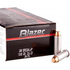 Náboj Blazer 38 Special +P TMJ 10,24g/158grs
