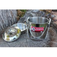 Ešus Zebra head loop handle pot 14 cm