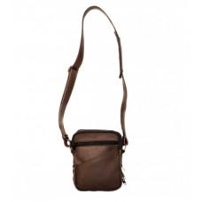 529/2 EX Kožená taška na plece/Leather bag, tmavohnedá