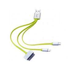 IWO C31 nabíjací a dátový multifunkčný kábel 3 V 1