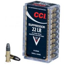 Náboj CCI Suppressor .22LR LHP 45gr/2,92g