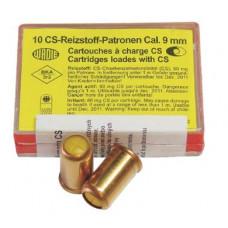 Plynové náboje Wadie 9mm CS revolverové, 10 ks v balení