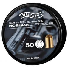 Plynové náboje akustické Walther 9mm R.K., 50 ks v balení