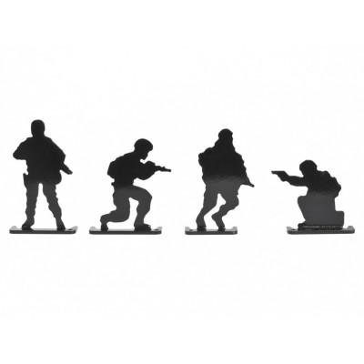 Kovové terče Raven - vojaci 4ks