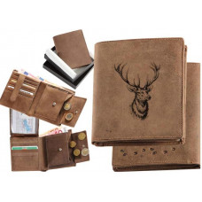 Pánska peňaženka s jeleňou hlavou