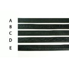 Kožený opasok čierny