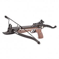 Pištolová kuša 80LB, s drevenou rúčkou a podpažbím